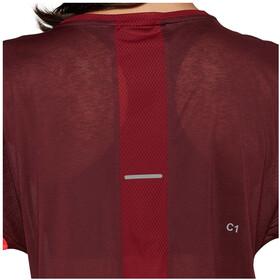asics Style Koszulka rowerowa z krótkim rękawem Kobiety, deep mars/chili flake